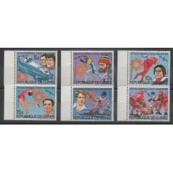 Guinée - 1984 - No 748/751 - PA168/PA169 - Jeux olympiques d'hiver