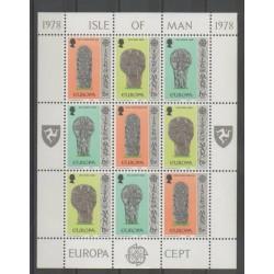 Man (Ile de) - 1978 - No 120/122 - Petite feuille - Art - Europa