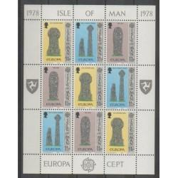 Man (Ile de) - 1978 - No 123/125 - Petite feuille - Art - Europa