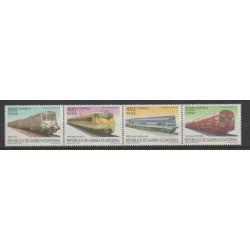 Guinée équatoriale - 2005 - No 481/484 - Chemins de fer