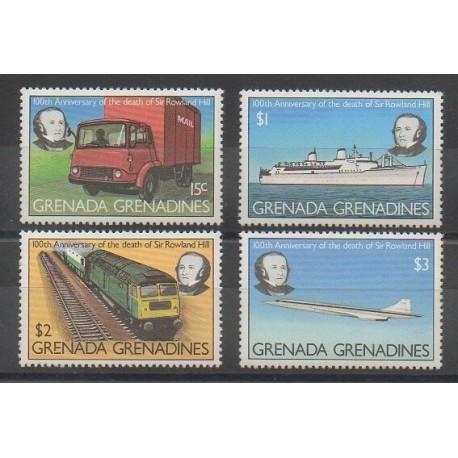 Grenadines - 1979 - No 293/296 - Poste - Transports