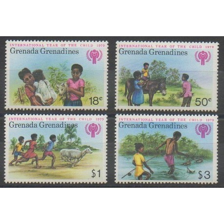 Grenadines - 1979 - No 285/288 - Enfance
