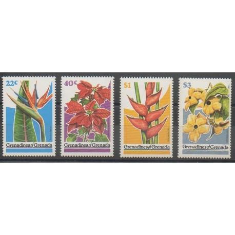 Grenadines - 1979 - No 281/284 - Fleurs