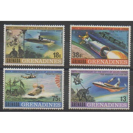 Grenadines - 1979 - No 289/292 - Littérature