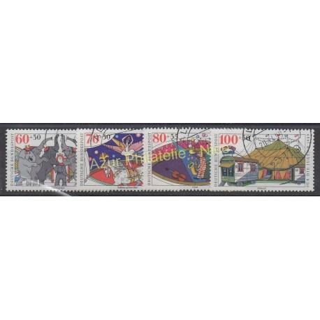 Allemagne occidentale (RFA) - 1989 - No 1243/1246 - Cirque - Oblitéré