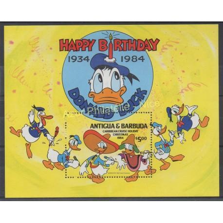 Timbres - Thème Walt Disney - Antigua et Barbuda - 1984 - No BF 85