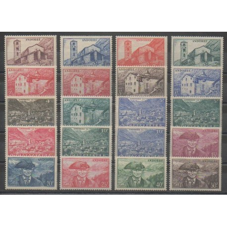 Andorre - 1944 - No 100/118 - Neuf avec charnière