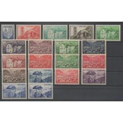Andorre - 1948 - No 119/137 - Neuf avec charnière