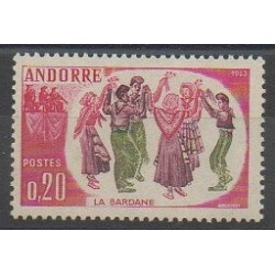 French Andorra - 1963 - Nb 166 - Costumes