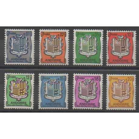 Andorre - 1961 - No 153A/157 - Armoiries