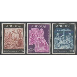 French Andorra - 1967 - Nb 184/186 - Easter