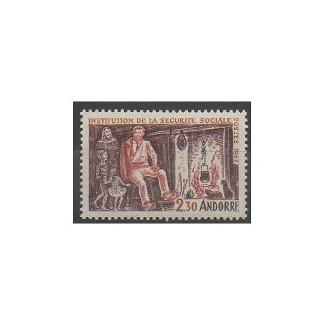 Andorre - 1967 - No 183 - Santé ou Croix-Rouge