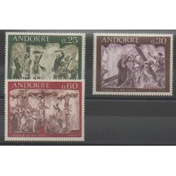 French Andorra - 1968 - Nb 191/193 - Easter