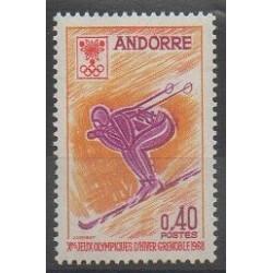 Andorre - 1968 - No 187 - Jeux olympiques d'hiver