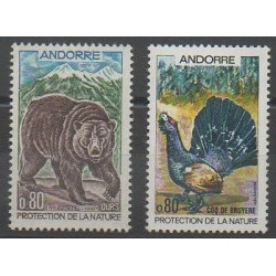 French Andorra - 1971 - Nb 210/211 - Environment - Mamals - Birds