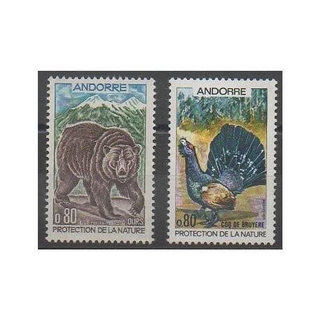 Andorre - 1971 - No 210/211 - Environnement - Mammifères - Oiseaux