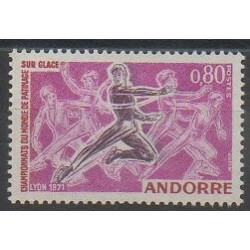 French Andorra - 1971 - Nb 209 - Various sports