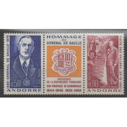 French Andorra - 1972 - Nb 225A - De Gaullle