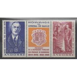 French Andorra - 1972 - Nb 225A - De Gaullle