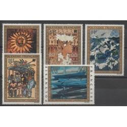 Polynesia - 1973 - Nb PA77/PA81 - Paintings