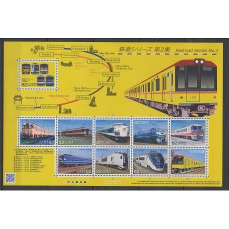 Japon - 2014 - No 6787/6796 - Chemins de fer