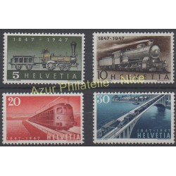 Suisse - 1947 - No 441/444 - Trains