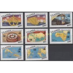Timbres - Thème Christophe Colomb - Ouganda - 1992 - No 895J/899