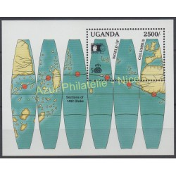 Timbres - Thème Christophe Colomb - Ouganda - 1992 - No BF 156