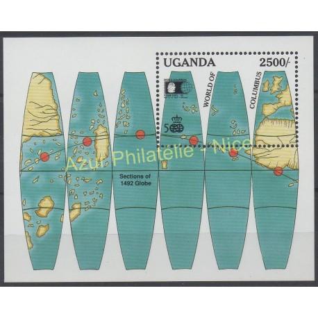 Stamps - Theme Christophe Colomb - Uganda - 1992 - Nb BF 156
