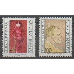 Allemagne - 1991 - No 1404/1405 - Peinture