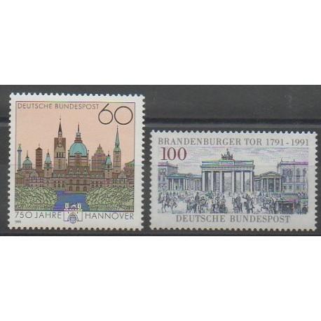 Allemagne - 1991 - No 1323/1324 - Monuments
