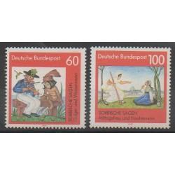 Allemagne - 1991 - No 1408/1409 - Littérature