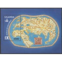 Timbres - Thème Christophe Colomb - Ouganda - 1992 - No BF 155A