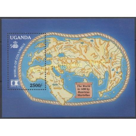 Stamps - Theme Christophe Colomb - Uganda - 1992 - Nb BF 155A