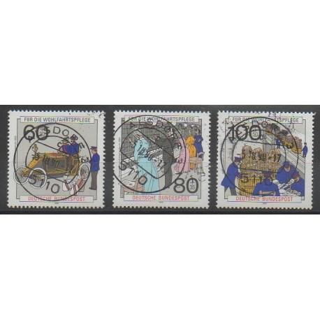 Allemagne occidentale (RFA) - 1990 - No 1306/1308 - Poste - Oblitéré