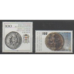 West Germany (FRG) - 1990 - Nb 1283/1284 - Coins, Banknotes Or Medals
