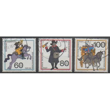 Allemagne occidentale (RFA) - 1989 - No 1269/1271 - Poste - Oblitéré