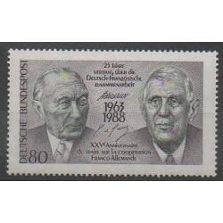Allemagne occidentale (RFA) - 1988 - No 1183 - De Gaulle - Histoire
