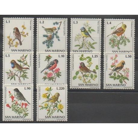 Saint-Marin - 1972 - No 810/819 - Oiseaux