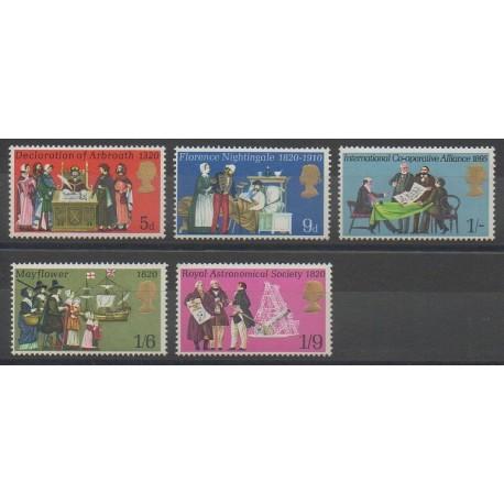 Grande-Bretagne - 1970 - No 586/590 - Histoire
