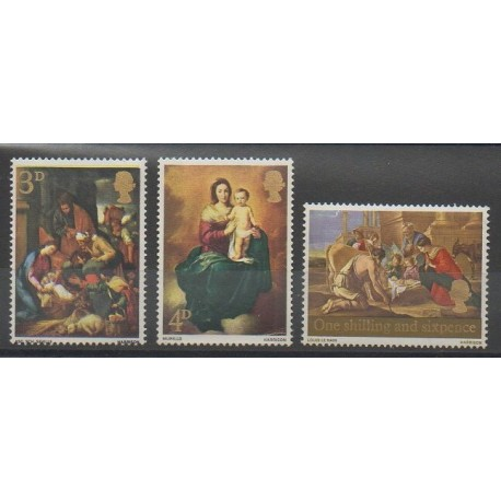 Grande-Bretagne - 1967 - No 499/501 - Noël - Peinture
