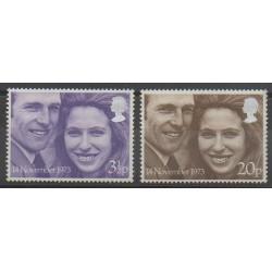 Great Britain - 1973 - Nb 700/701 - Royalty