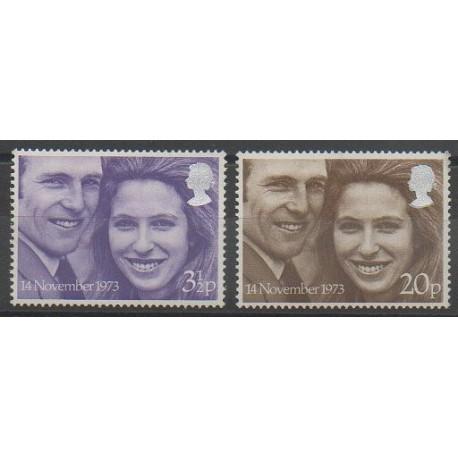 Grande-Bretagne - 1973 - No 700/701 - Royauté - Principauté