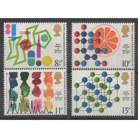 Grande-Bretagne - 1977 - No 825/828 - Sciences et Techniques