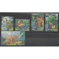 Australia - 1994 - Nb 1388/1392 - Endangered species - WWF
