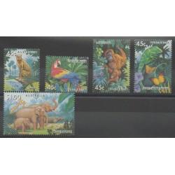 Australie - 1994 - No 1388/1392 - Espèces menacées - WWF