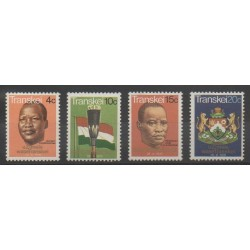 Afrique du Sud - Transkei - 1976 - No 18/21 - Armoiries - Drapeaux