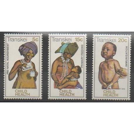Afrique du Sud - Transkei - 1979 - No 62/64 - Santé ou Croix-Rouge - Enfance