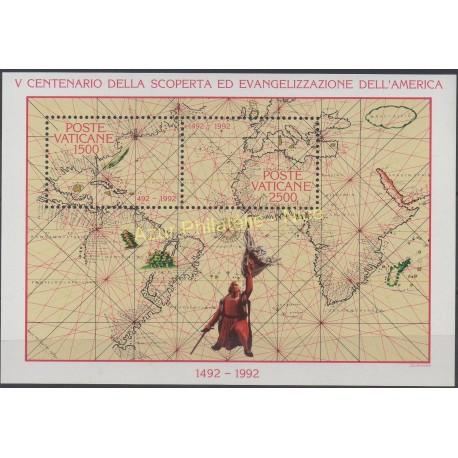 Timbres - Thème Christophe Colomb - Vatican - 1992 - No BF 13
