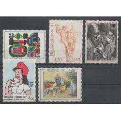 France - Poste - 1983 - No 2263/2265 - 2291 - 2297 - Peinture